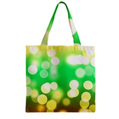 Soft Lights Bokeh 3 Zipper Grocery Tote Bag
