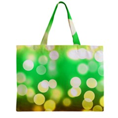 Soft Lights Bokeh 3 Zipper Mini Tote Bag