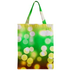 Soft Lights Bokeh 3 Zipper Classic Tote Bag