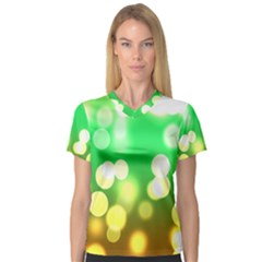 Soft Lights Bokeh 3 V-Neck Sport Mesh Tee