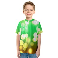 Soft Lights Bokeh 3 Kids  Sport Mesh Tee