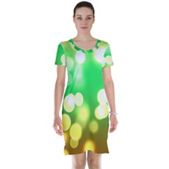 Soft Lights Bokeh 3 Short Sleeve Nightdress