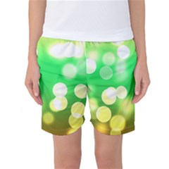 Soft Lights Bokeh 3 Women s Basketball Shorts