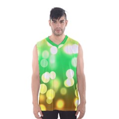 Soft Lights Bokeh 3 Men s Basketball Tank Top