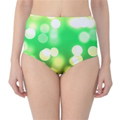 Soft Lights Bokeh 3 High-Waist Bikini Bottoms