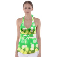 Soft Lights Bokeh 3 Babydoll Tankini Top