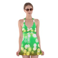 Soft Lights Bokeh 3 Halter Dress Swimsuit