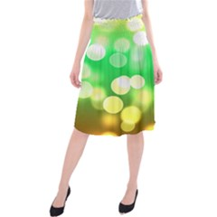 Soft Lights Bokeh 3 Midi Beach Skirt