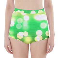 Soft Lights Bokeh 3 High-Waisted Bikini Bottoms