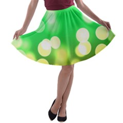 Soft Lights Bokeh 3 A-line Skater Skirt