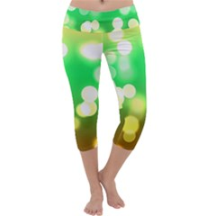 Soft Lights Bokeh 3 Capri Yoga Leggings