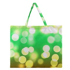 Soft Lights Bokeh 3 Zipper Large Tote Bag