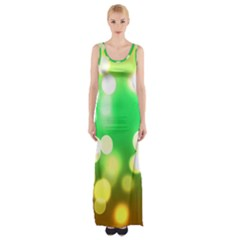 Soft Lights Bokeh 3 Maxi Thigh Split Dress