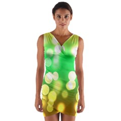 Soft Lights Bokeh 3 Wrap Front Bodycon Dress
