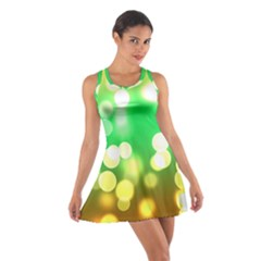 Soft Lights Bokeh 3 Cotton Racerback Dress