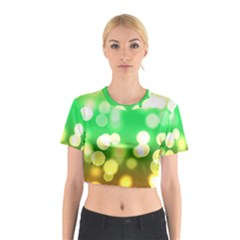 Soft Lights Bokeh 3 Cotton Crop Top