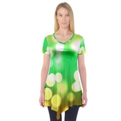 Soft Lights Bokeh 3 Short Sleeve Tunic