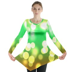 Soft Lights Bokeh 3 Long Sleeve Tunic