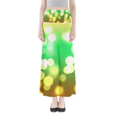 Soft Lights Bokeh 3 Full Length Maxi Skirt