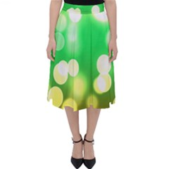 Soft Lights Bokeh 3 Folding Skater Skirt