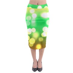 Soft Lights Bokeh 3 Midi Pencil Skirt