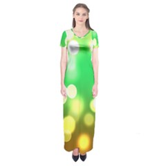 Soft Lights Bokeh 3 Short Sleeve Maxi Dress