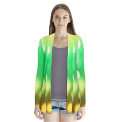 Soft Lights Bokeh 3 Drape Collar Cardigan