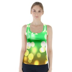 Soft Lights Bokeh 3 Racer Back Sports Top