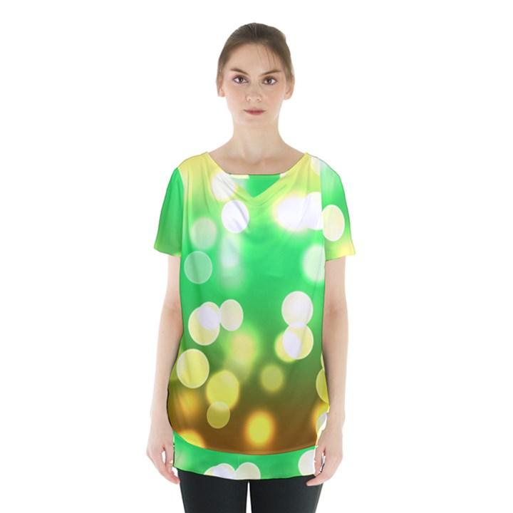 Soft Lights Bokeh 3 Skirt Hem Sports Top