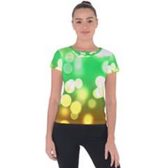 Soft Lights Bokeh 3 Short Sleeve Sports Top