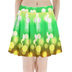 Soft Lights Bokeh 3 Pleated Mini Skirt