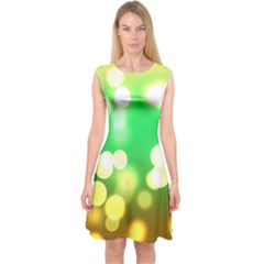 Soft Lights Bokeh 3 Capsleeve Midi Dress