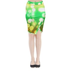 Soft Lights Bokeh 3 Midi Wrap Pencil Skirt