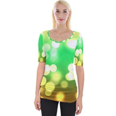 Soft Lights Bokeh 3 Wide Neckline Tee