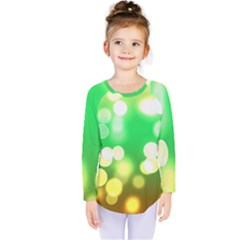 Soft Lights Bokeh 3 Kids  Long Sleeve Tee