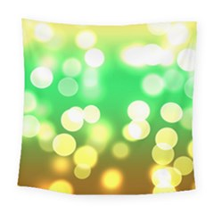 Soft Lights Bokeh 3 Square Tapestry (Large)