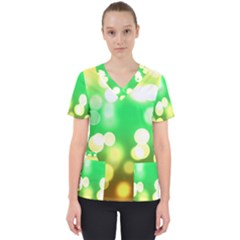 Soft Lights Bokeh 3 Scrub Top
