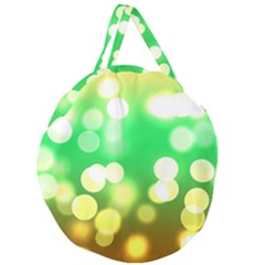 Soft Lights Bokeh 3 Giant Round Zipper Tote