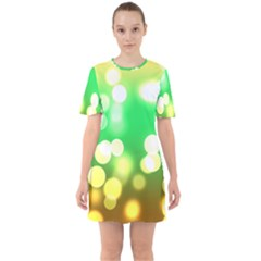 Soft Lights Bokeh 3 Sixties Short Sleeve Mini Dress