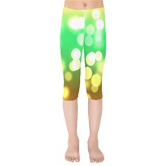 Soft Lights Bokeh 3 Kids  Capri Leggings