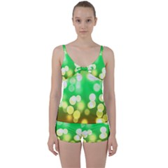 Soft Lights Bokeh 3 Tie Front Two Piece Tankini