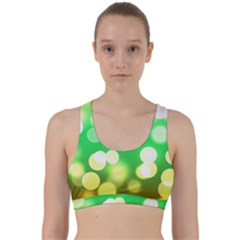 Soft Lights Bokeh 3 Back Weave Sports Bra