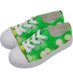 Soft Lights Bokeh 3 Kids  Low Top Canvas Sneakers