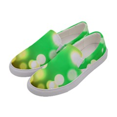 Soft Lights Bokeh 3 Women s Canvas Slip Ons