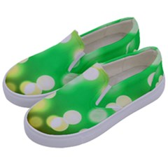 Soft Lights Bokeh 3 Kids  Canvas Slip Ons