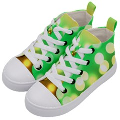 Soft Lights Bokeh 3 Kid s Mid-Top Canvas Sneakers