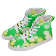 Soft Lights Bokeh 3 Women s Hi-Top Skate Sneakers