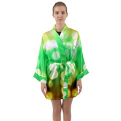 Soft Lights Bokeh 3 Long Sleeve Kimono Robe