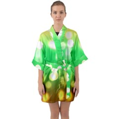 Soft Lights Bokeh 3 Quarter Sleeve Kimono Robe