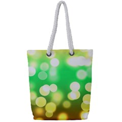 Soft Lights Bokeh 3 Full Print Rope Handle Tote (Small)